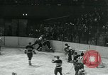 Image of hockey match New York United States USA, 1947, second 18 stock footage video 65675040657