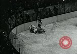 Image of hockey match New York United States USA, 1947, second 56 stock footage video 65675040657