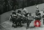 Image of hockey match New York United States USA, 1947, second 62 stock footage video 65675040657