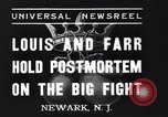 Image of Joe Louis New Jersey United States USA, 1937, second 4 stock footage video 65675040681