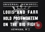 Image of Joe Louis New Jersey United States USA, 1937, second 7 stock footage video 65675040681