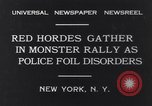 Image of Red Hordes New York United States USA, 1931, second 3 stock footage video 65675040714