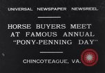 Image of Horse buyers Chincoteague Island Virginia USA, 1931, second 1 stock footage video 65675040715