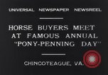 Image of Horse buyers Chincoteague Island Virginia USA, 1931, second 7 stock footage video 65675040715