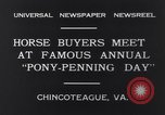 Image of Horse buyers Chincoteague Island Virginia USA, 1931, second 10 stock footage video 65675040715