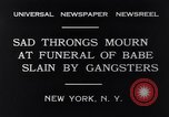 Image of Michael Vengalli funeral procession New York City USA, 1931, second 4 stock footage video 65675040716