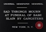 Image of Michael Vengalli funeral procession New York City USA, 1931, second 5 stock footage video 65675040716