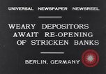Image of Depositors Berlin Germany, 1931, second 2 stock footage video 65675040721