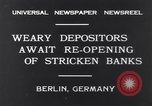 Image of Depositors Berlin Germany, 1931, second 3 stock footage video 65675040721