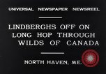 Image of Charles Lindbergh North Haven Maine USA, 1931, second 7 stock footage video 65675040722