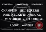 Image of Annual Motorbike Tournament Leoben Austria, 1932, second 2 stock footage video 65675040729