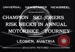 Image of Annual Motorbike Tournament Leoben Austria, 1932, second 5 stock footage video 65675040729