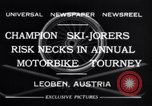 Image of Annual Motorbike Tournament Leoben Austria, 1932, second 8 stock footage video 65675040729