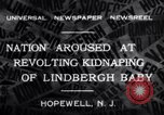 Image of Lindbergh kidnapping Hopewell New Jersey United States USA, 1932, second 6 stock footage video 65675040731