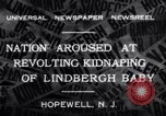 Image of Lindbergh kidnapping Hopewell New Jersey United States USA, 1932, second 8 stock footage video 65675040731
