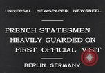 Image of French Statesmen Berlin Germany, 1931, second 3 stock footage video 65675040734