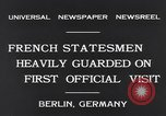 Image of French Statesmen Berlin Germany, 1931, second 6 stock footage video 65675040734