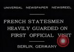 Image of French Statesmen Berlin Germany, 1931, second 10 stock footage video 65675040734