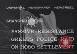 Image of Hobo settlement Shanghai China, 1932, second 8 stock footage video 65675040754