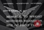 Image of Memorial to Wright Brothers erected Kitty Hawk North Carolina USA, 1932, second 1 stock footage video 65675040755
