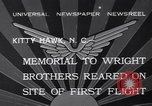 Image of Memorial to Wright Brothers erected Kitty Hawk North Carolina USA, 1932, second 8 stock footage video 65675040755