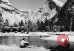 Image of Yosemite National Park in World War 2 Yosemite National Park California USA, 1943, second 52 stock footage video 65675040770