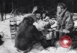 Image of Dog sled team rescues pilot United States USA, 1944, second 16 stock footage video 65675040790