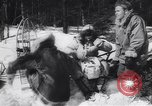 Image of Dog sled team rescues pilot United States USA, 1944, second 17 stock footage video 65675040790