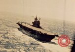 Image of Navy fighter aircraft landing on USS Essex Pacific Theater, 1945, second 19 stock footage video 65675040813