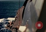 Image of Navy fighter aircraft landing on USS Essex Pacific Theater, 1945, second 40 stock footage video 65675040813