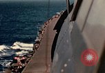 Image of Navy fighter aircraft landing on USS Essex Pacific Theater, 1945, second 41 stock footage video 65675040813