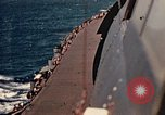 Image of Navy fighter aircraft landing on USS Essex Pacific Theater, 1945, second 44 stock footage video 65675040813