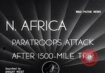 Image of US Army paratroopers jump from C-47 North Africa, 1942, second 3 stock footage video 65675040824