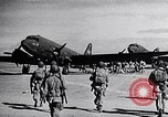 Image of US Army paratroopers jump from C-47 North Africa, 1942, second 7 stock footage video 65675040824