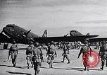 Image of US Army paratroopers jump from C-47 North Africa, 1942, second 9 stock footage video 65675040824