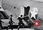 Image of US Army paratroopers jump from C-47 North Africa, 1942, second 10 stock footage video 65675040824