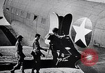 Image of US Army paratroopers jump from C-47 North Africa, 1942, second 11 stock footage video 65675040824