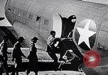 Image of US Army paratroopers jump from C-47 North Africa, 1942, second 13 stock footage video 65675040824