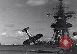 Image of F4U Corsair noses over Pacific Theater, 1943, second 26 stock footage video 65675040834