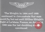 Image of Wilbur Wright Le Mans France, 1908, second 2 stock footage video 65675040861