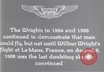 Image of Wilbur Wright Le Mans France, 1908, second 3 stock footage video 65675040861