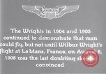 Image of Wilbur Wright Le Mans France, 1908, second 5 stock footage video 65675040861