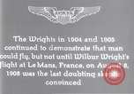 Image of Wilbur Wright Le Mans France, 1908, second 9 stock footage video 65675040861