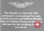 Image of Wilbur Wright Le Mans France, 1908, second 11 stock footage video 65675040861