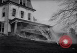 Image of demolished house New Jersey United States USA, 1957, second 29 stock footage video 65675040876
