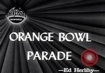 Image of Orange Bowl parade Miami Florida USA, 1947, second 1 stock footage video 65675040922