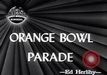 Image of Orange Bowl parade Miami Florida USA, 1947, second 2 stock footage video 65675040922
