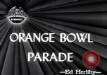 Image of Orange Bowl parade Miami Florida USA, 1947, second 4 stock footage video 65675040922