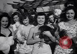Image of chicken beauty pageant Petaluma California USA, 1947, second 31 stock footage video 65675040927