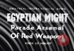 Image of Arms display Suez Egypt, 1956, second 1 stock footage video 65675040940